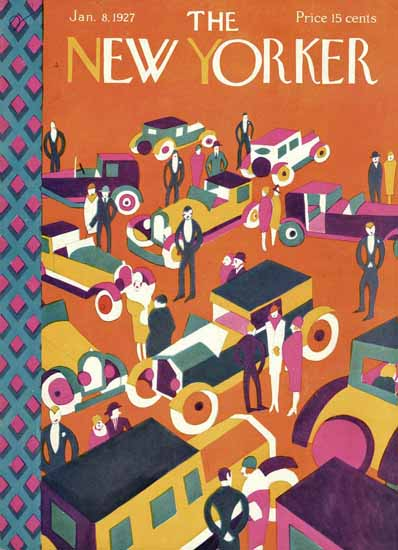 The New Yorker Magazine Cover 1927_01_08 Copyright   The New Yorker Graphic Art Covers 1925-1945
