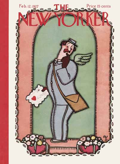 The New Yorker Magazine Cover 1927_02_12 Copyright | The New Yorker Graphic Art Covers 1925-1945