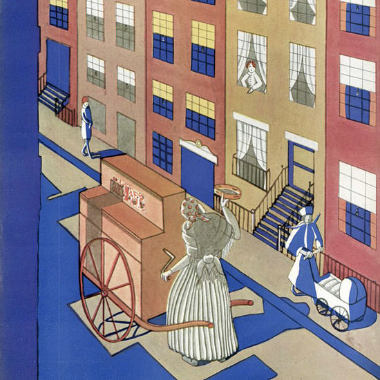 The New Yorker Magazine Cover 1927_07_30 Copyright crop | Best of Vintage Cover Art 1900-1970
