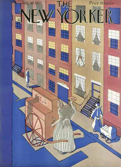 The New Yorker Magazine Cover 1927_07_30 Copyright | The New Yorker Graphic Art Covers 1925-1945