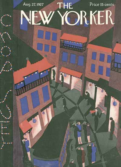 The New Yorker Magazine Cover 1927_08_27 Copyright | The New Yorker Graphic Art Covers 1925-1945
