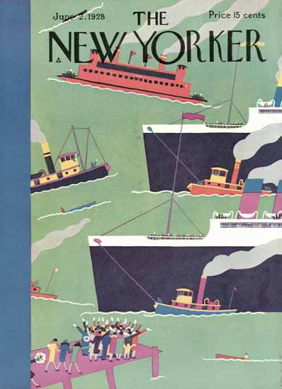 The New Yorker Magazine Cover 1928_06_02 Copyright | The New Yorker Graphic Art Covers 1925-1945