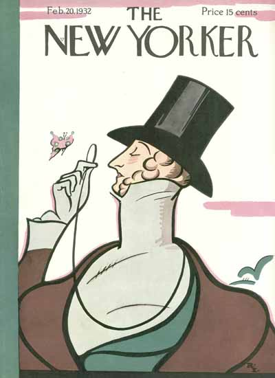 The New Yorker Magazine Cover 1932_02_20 Copyright | The New Yorker Graphic Art Covers 1925-1945