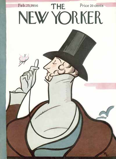 The New Yorker Magazine Cover 1956_02_25 Copyright   The New Yorker Graphic Art Covers 1946-1970