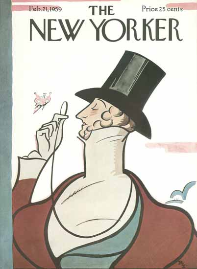 The New Yorker Magazine Cover 1959_02_21 Copyright | The New Yorker Graphic Art Covers 1946-1970