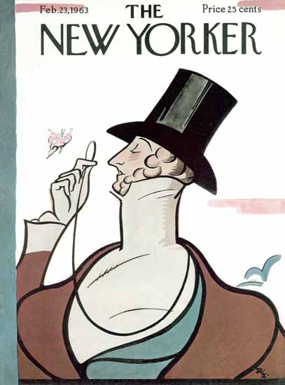 The New Yorker Magazine Cover 1963_02_23 Copyright | The New Yorker Graphic Art Covers 1946-1970