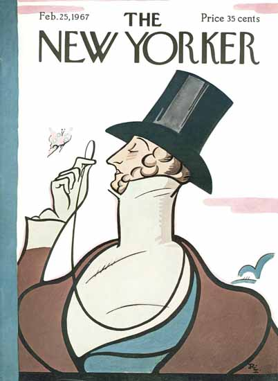 The New Yorker Magazine Cover 1967_02_25 Copyright   The New Yorker Graphic Art Covers 1946-1970