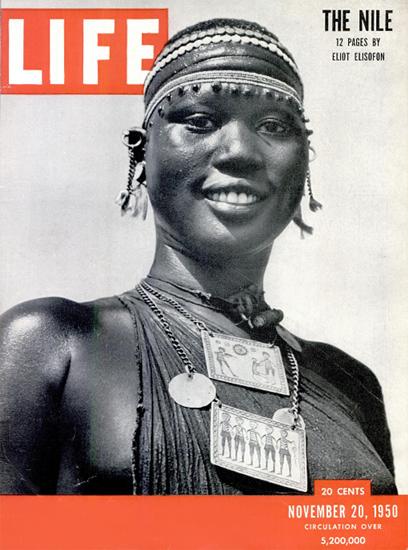 The Nile 20 Nov 1950 Copyright Life Magazine | Life Magazine BW Photo Covers 1936-1970