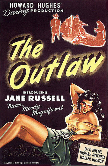 The Outlaw Jane Russell Movie 1946 | Sex Appeal Vintage Ads and Covers 1891-1970