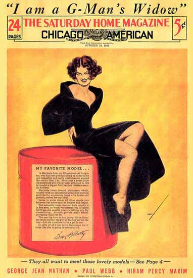 The Saturday Home Magazine October 1935 George Petty Sex Appeal | Sex Appeal Vintage Ads and Covers 1891-1970