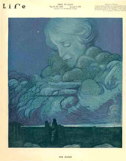 The Watch Life Humor Magazine 1919-01-09 Copyright | Life Magazine Graphic Art Covers 1891-1936