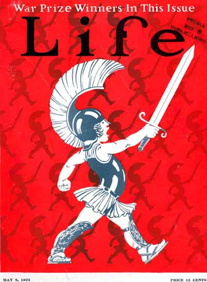 The little Praetorian Life Humor Magazine 1924-05-08 Copyright | Life Magazine Graphic Art Covers 1891-1936