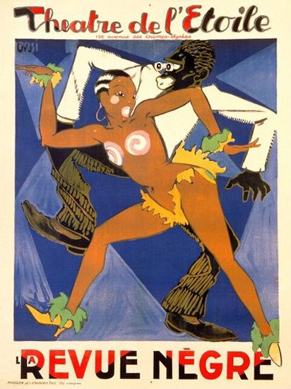 Theatre De L Etoile La Revue Negre Black Dancer | Sex Appeal Vintage Ads and Covers 1891-1970