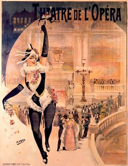Theatre De L Opera Paris Dancer Henri Gray | Sex Appeal Vintage Ads and Covers 1891-1970