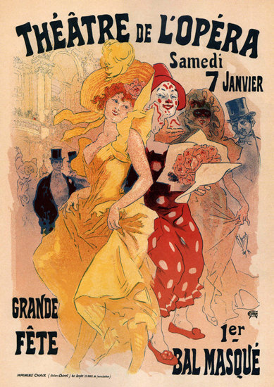 Theatre Do L Opera Grande Fete Bal Masque | Sex Appeal Vintage Ads and Covers 1891-1970