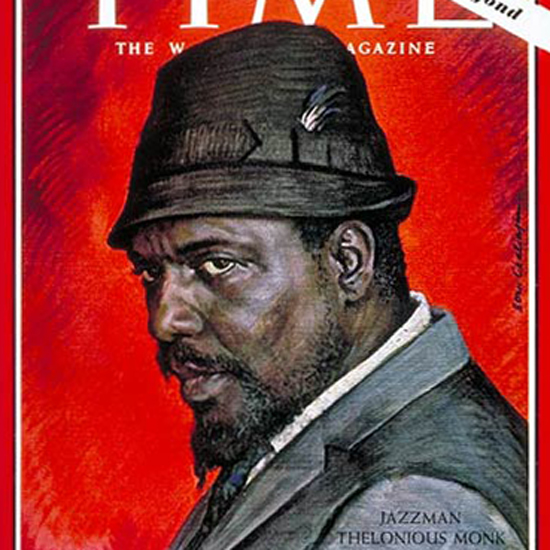 Thelonious Monk Time Magazine 1964-02 by Boris Chaliapin crop | Best of Vintage Cover Art 1900-1970