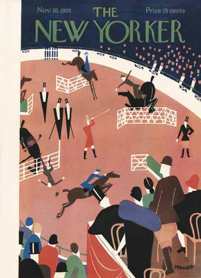 Theodore G Haupt The New Yorker 1928_11_10 Copyright   The New Yorker Graphic Art Covers 1925-1945