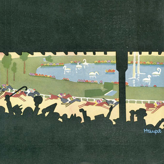 Theodore G Haupt The New Yorker 1929_08_10 Copyright crop | Best of 1920s Ad and Cover Art