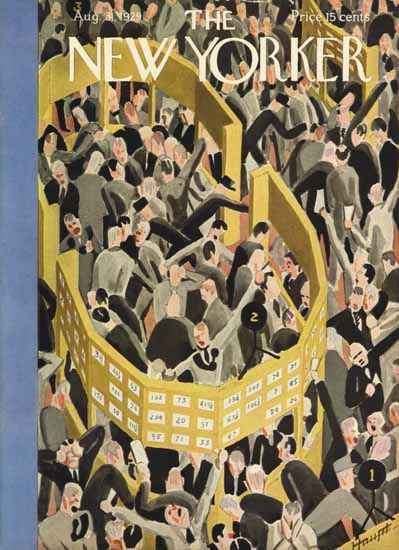 Theodore G Haupt The New Yorker 1929_08_31 Copyright   The New Yorker Graphic Art Covers 1925-1945