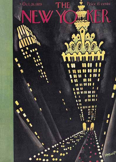 Theodore G Haupt The New Yorker 1929_10_26 Copyright | The New Yorker Graphic Art Covers 1925-1945