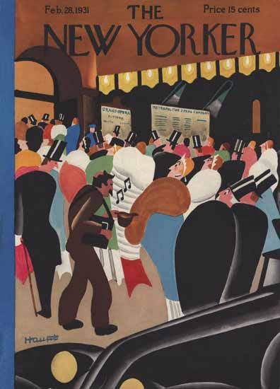 Theodore G Haupt The New Yorker 1931_02_28 Copyright | The New Yorker Graphic Art Covers 1925-1945