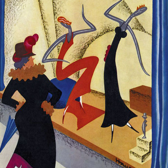 Theodore G Haupt The New Yorker 1931_10_10 Copyright crop | Best of 1930s Ad and Cover Art