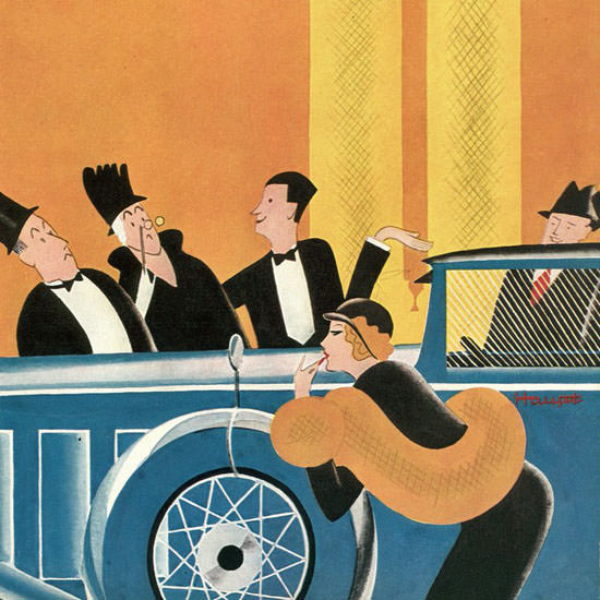 Theodore G Haupt The New Yorker 1932_01_09 Copyright crop | Best of Vintage Cover Art 1900-1970