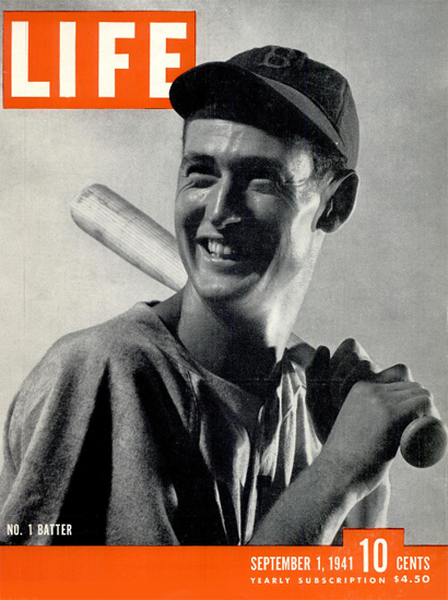 Theodore Williams No 1 Batter 1 Sep 1941 Copyright Life Magazine | Life Magazine BW Photo Covers 1936-1970