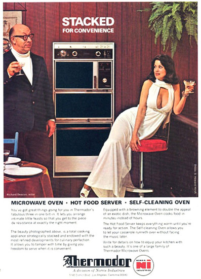 Thermodor Microwave Stacked For Convenience | Sex Appeal Vintage Ads and Covers 1891-1970