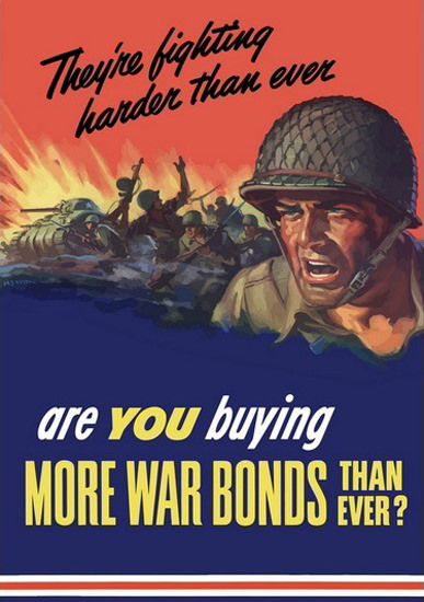 They Are Fighting Harder Than Ever War Scenery | Vintage War Propaganda Posters 1891-1970