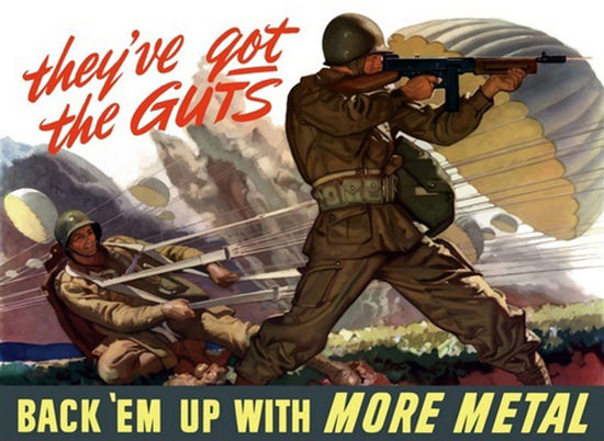 They Have Got The Guts Air-Borne Troop Action | Vintage War Propaganda Posters 1891-1970
