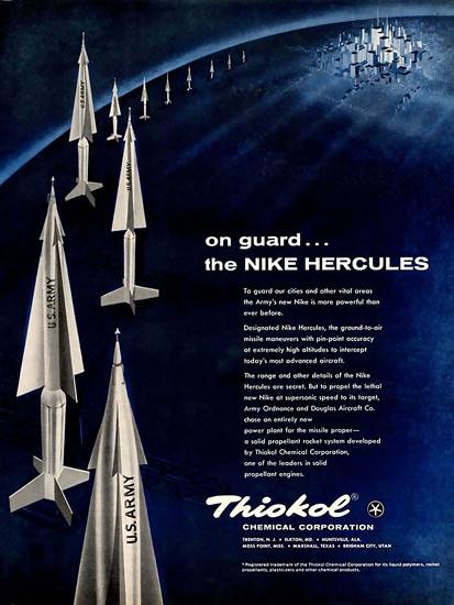 Thiokol Chemical Co Nike Herkules Missiles | Vintage War Propaganda Posters 1891-1970