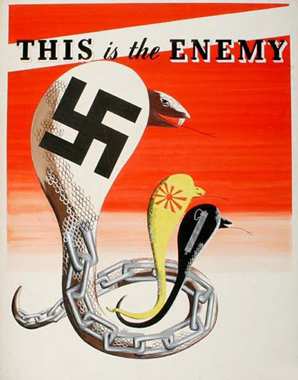This Is The Enemy Cobras | Vintage War Propaganda Posters 1891-1970