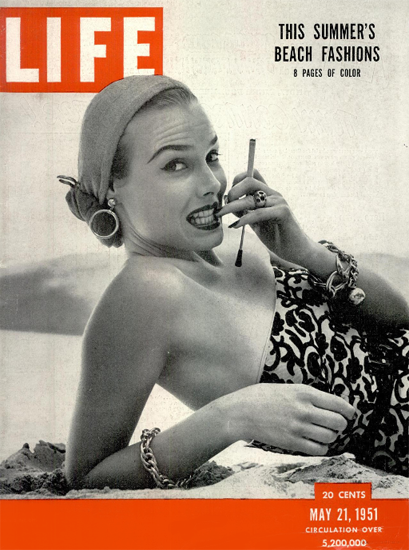 This Summers Beach Fashions 21 May 1951 Copyright Life Magazine | Life Magazine BW Photo Covers 1936-1970