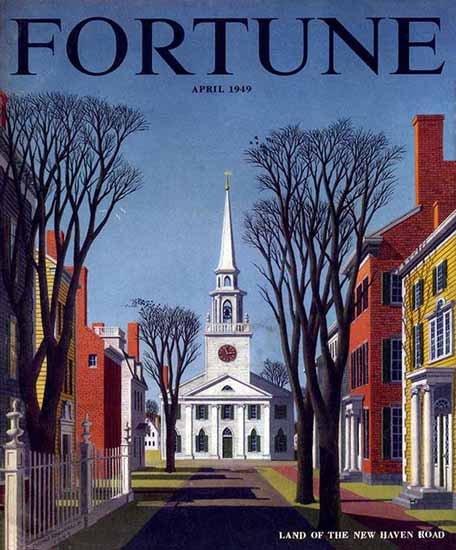 Thomas Francioli Fortune Magazine April 1949 Copyright | Fortune Magazine Graphic Art Covers 1930-1959