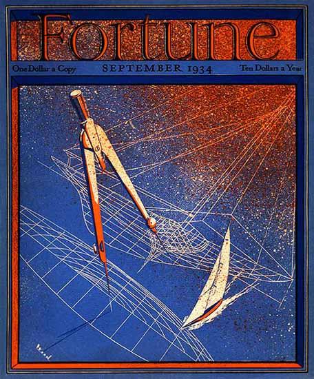 Thomas Wood Artist Fortune Magazine September 1934 Copyright | Fortune Magazine Graphic Art Covers 1930-1959