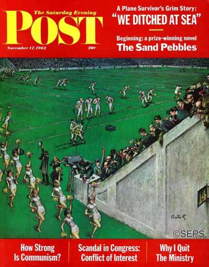 Thornton Utz Saturday Evening Post Baton Twirlers Leave 1962_11_17   The Saturday Evening Post Graphic Art Covers 1931-1969