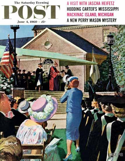 Thornton Utz Saturday Evening Post College Graduation 1960_06_04 | The Saturday Evening Post Graphic Art Covers 1931-1969