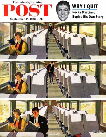 Thornton Utz Saturday Evening Post Commuter Pickup 1956_09_15 | The Saturday Evening Post Graphic Art Covers 1931-1969