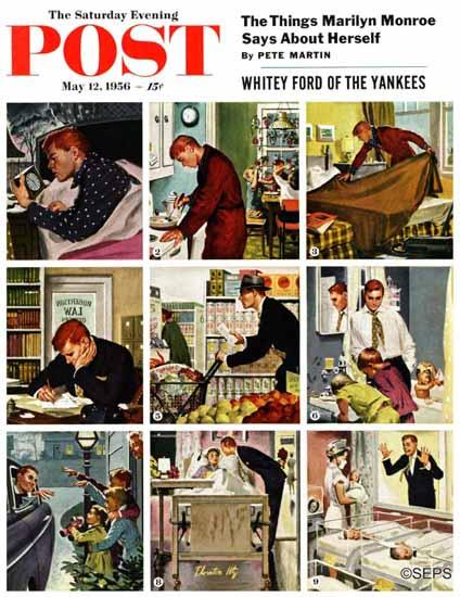 Thornton Utz Saturday Evening Post Mister Mom 1956_05_12   The Saturday Evening Post Graphic Art Covers 1931-1969