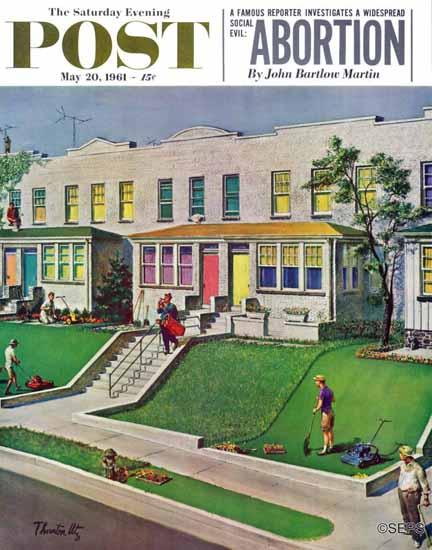Thornton Utz Saturday Evening Post Rather Be Golfing 1961_05_20 | The Saturday Evening Post Graphic Art Covers 1931-1969