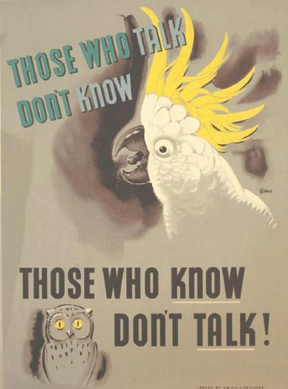 Those Who Know Dont Talk | Vintage War Propaganda Posters 1891-1970