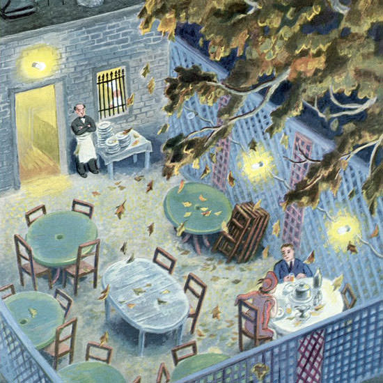 Tibor Gergely The New Yorker 1949_09_24 Copyright crop | Best of Vintage Cover Art 1900-1970