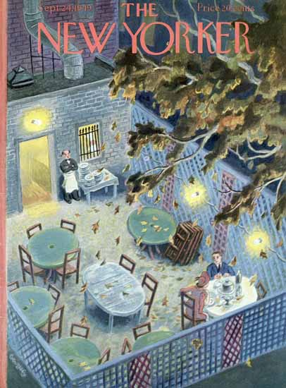 Tibor Gergely The New Yorker 1949_09_24 Copyright | The New Yorker Graphic Art Covers 1946-1970
