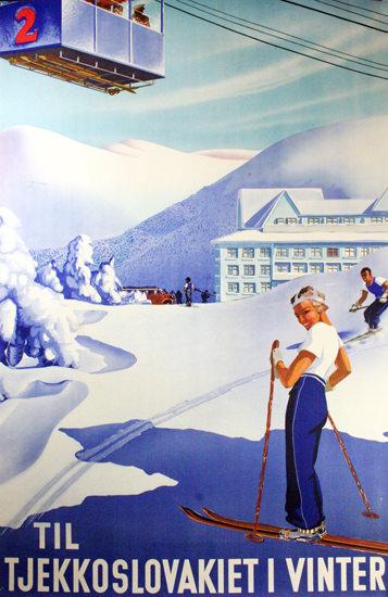 Til Tjekkoslovakiet I Vinter 1930s | Vintage Travel Posters 1891-1970