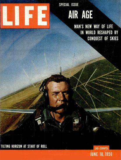 Tilting Horizon at Start of Roll 18 Jun 1956 Copyright Life Magazine | Life Magazine Color Photo Covers 1937-1970