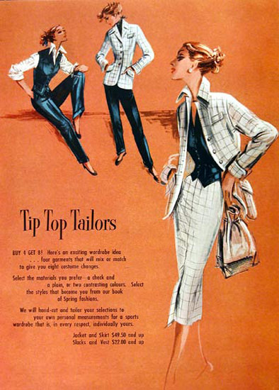 Tip Top Tailors Fashion 1951 | Sex Appeal Vintage Ads and Covers 1891-1970