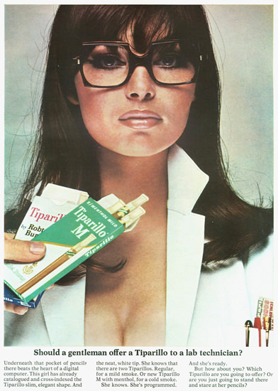 Tiparillo Offer To A Lab Technician 1967 | Sex Appeal Vintage Ads and Covers 1891-1970