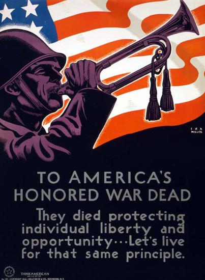 To Americas Honored War Dead | Vintage War Propaganda Posters 1891-1970