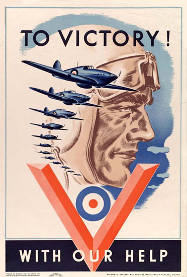 To Victory With Your Help Pilot | Vintage War Propaganda Posters 1891-1970